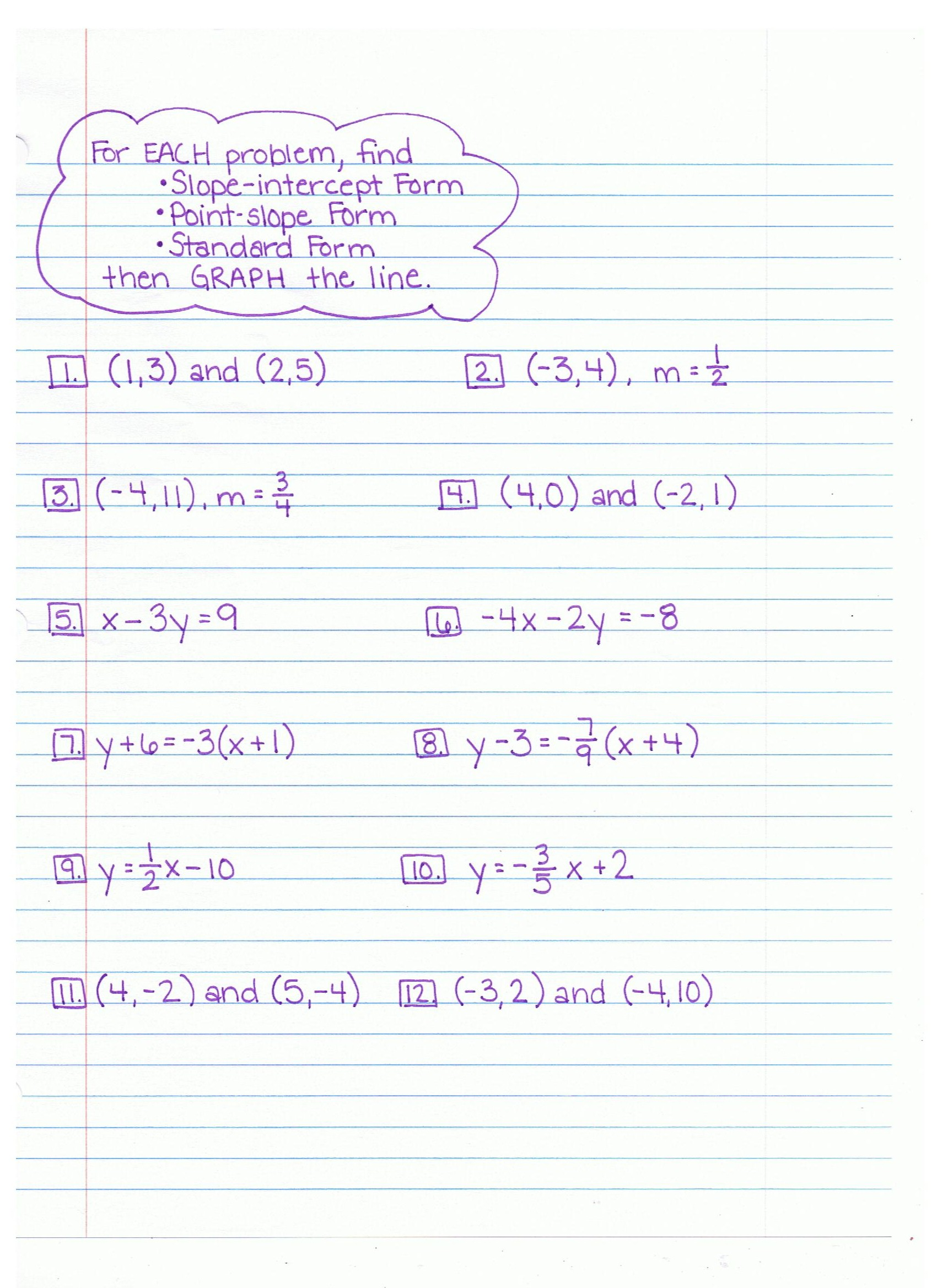 Linear Word Problems Common Core Algebra 1 Homework Answers