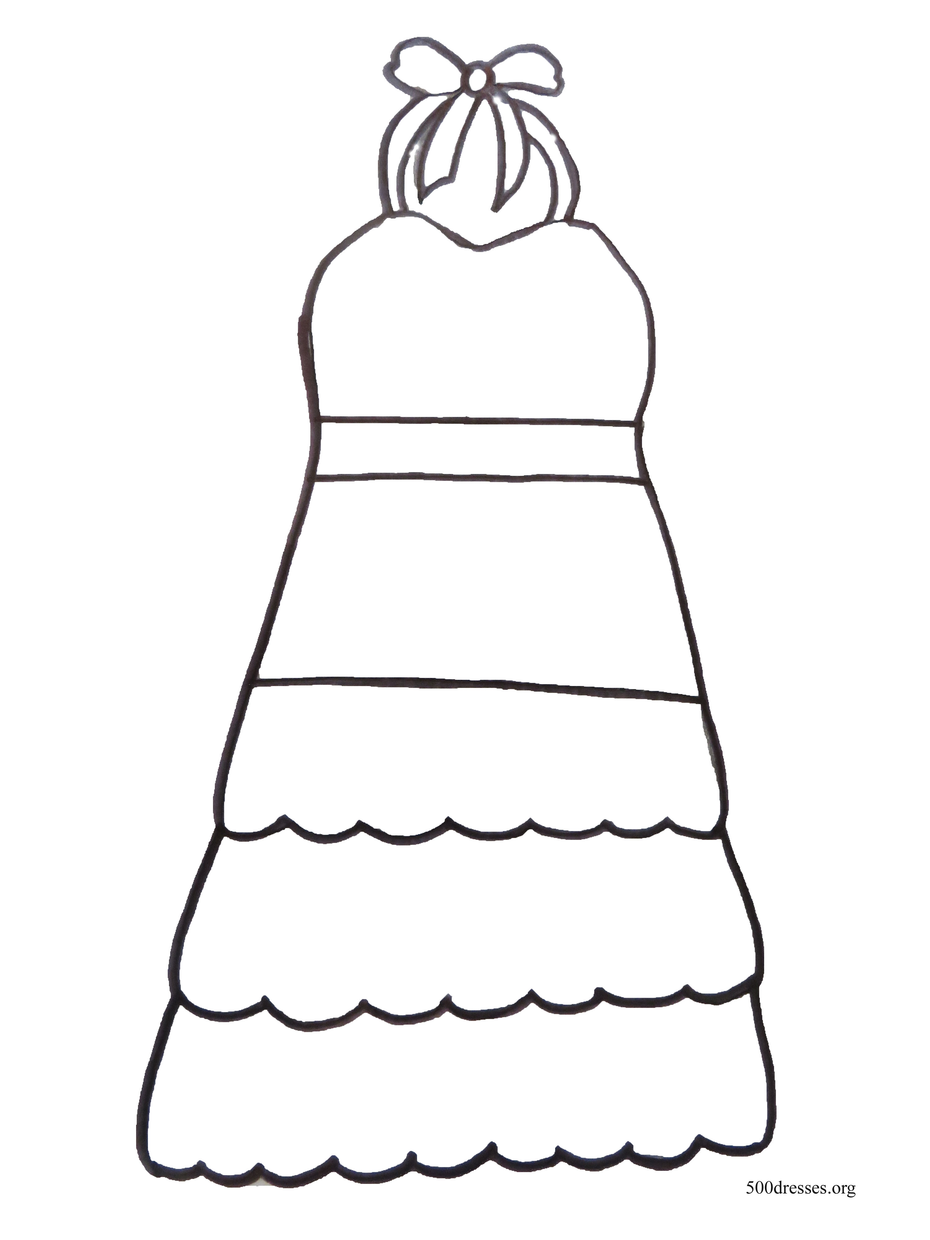 Sundress Coloring Page