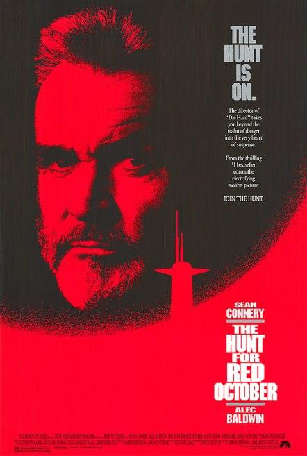 Plakat filmu Polowanie na Czerwony Październik