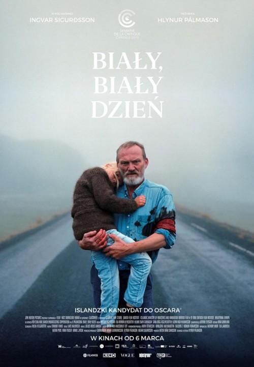 """Plakat filmu """"Biały, biały dzień"""" (2019)"""