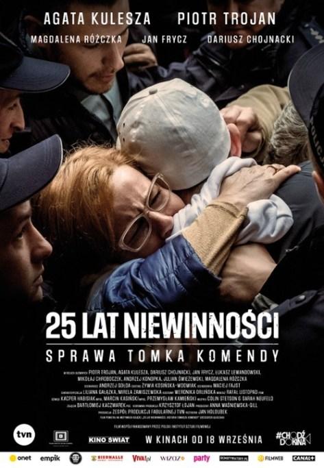 """Plakat filmu """"25 lat niewinności. Sprawa Tomka Komendy"""" (2020)"""