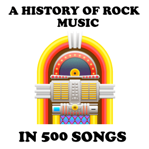 "A jukebox, with the words ""A History of Rock Music in 500 Songs"""