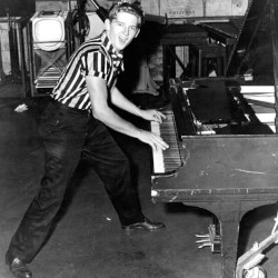 Jerry Lee Lewis at the piano