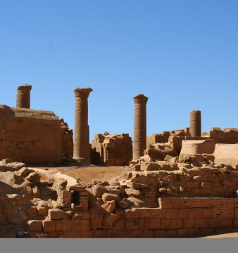 Musawwarat es-Sufra, a large Meroitic temple complex in Sudan, 190 km Northeast of Kharoum. (Photographer: Mauro Gambini)