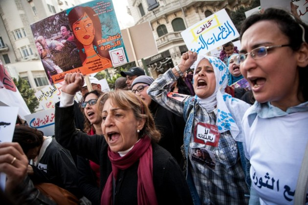 A women's rally in Cairo supporting the role of women in the Egyptian revolution. (Source: www.thedailybeast.com)