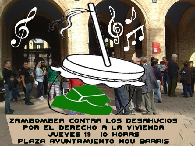 no ens cansem!! cassolada i nadales contra els propers desnonaments al barri