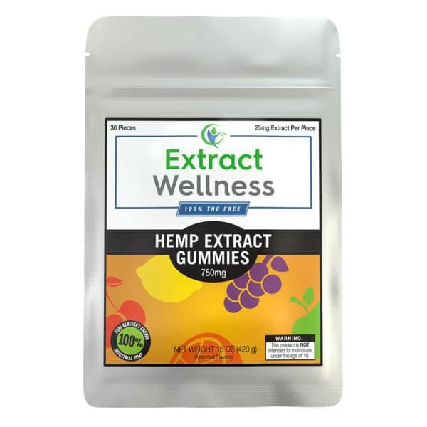 Extract Wellness 100% THC Free Hemp Extract Gummies