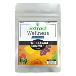 Extract Wellness 100% THC Free Hemp Extract Gummies