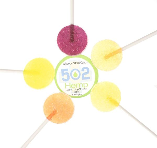 502 Hemp CBD Infused Lollipops