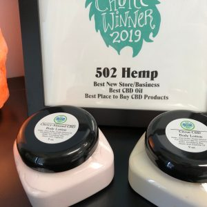 9oz jars of CBD lotion