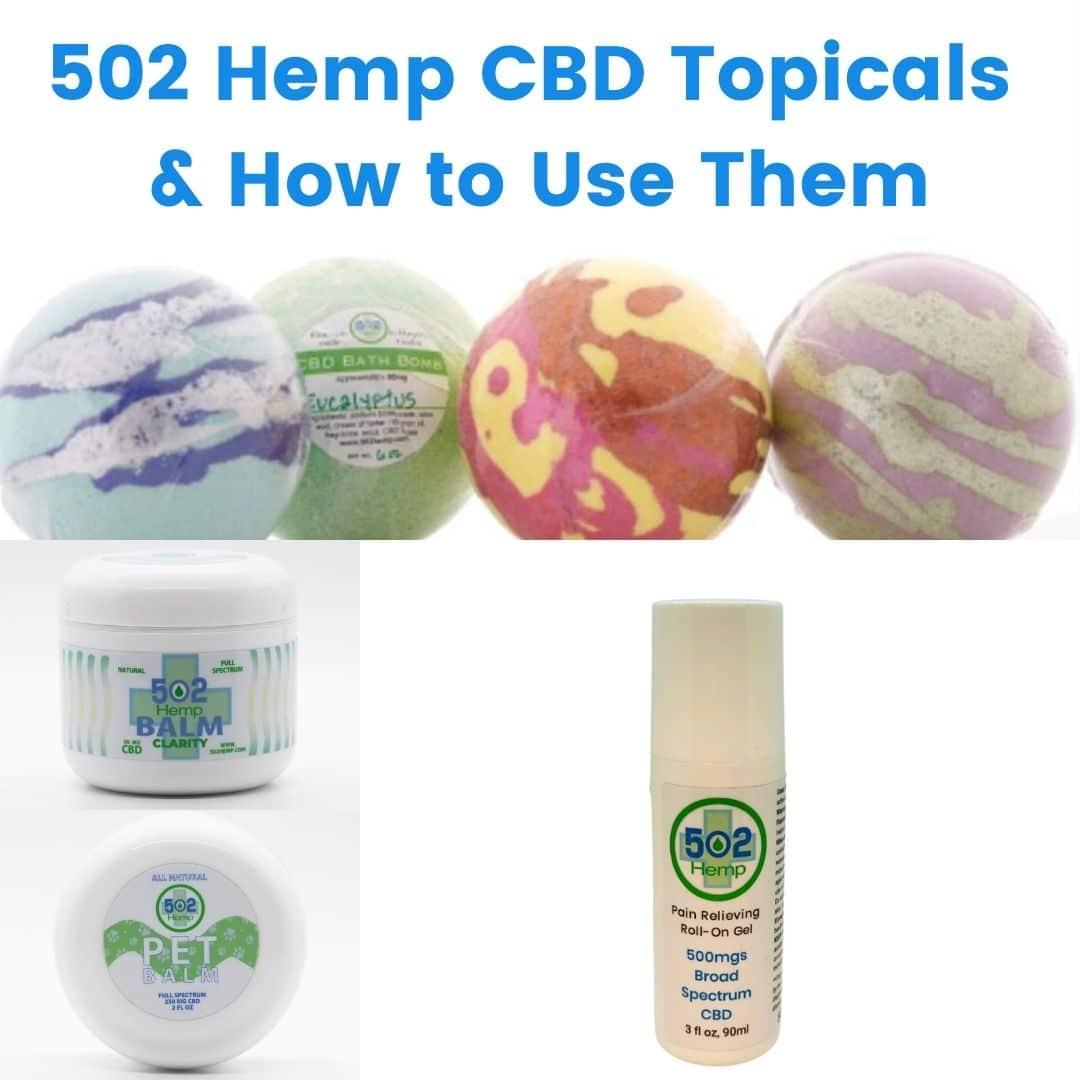 502 Hemp CBD topicals