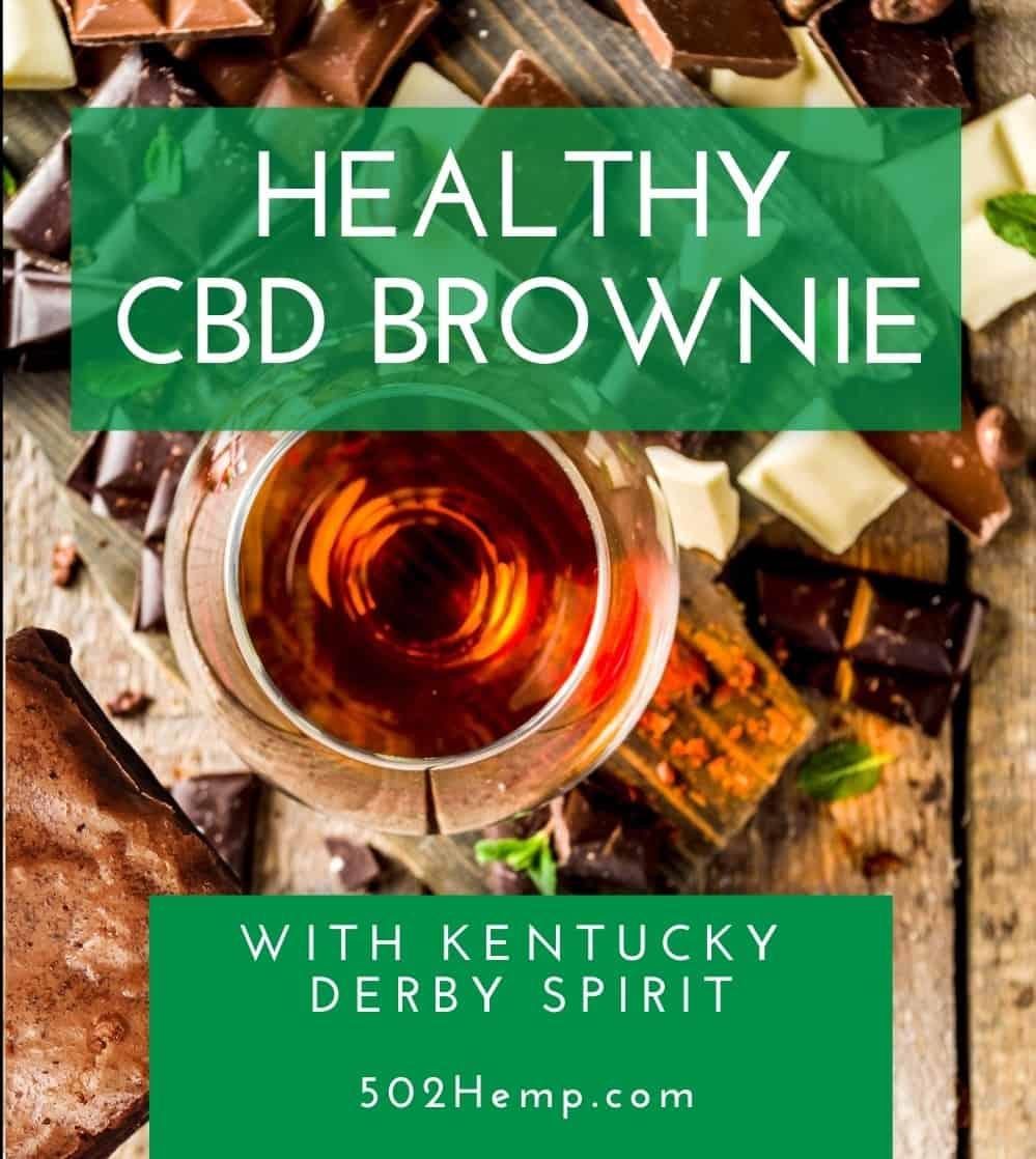 Healthy CBD Brownie with Kentucky Derby Spirit