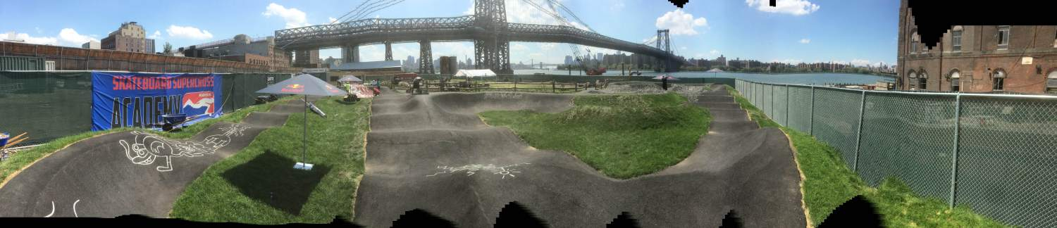 Panarama Photo of Brooklyn Pump Track photo Ed Pollio : 5050 Skatepark