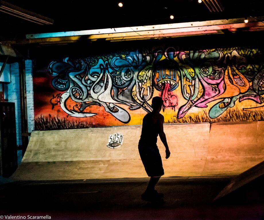 Shadow of Skater at 5050 Skatepark 2015 photo Valentino Scaramella