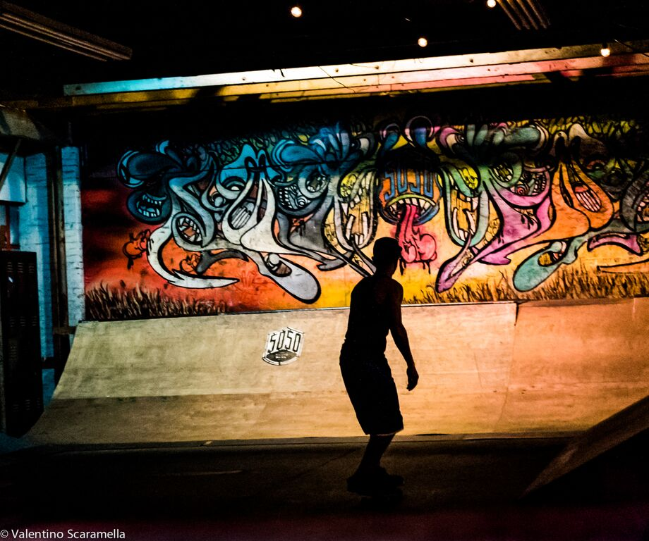 Shadow of Skater at 5050 Skatepark 2015 photo Valentino Scaramella
