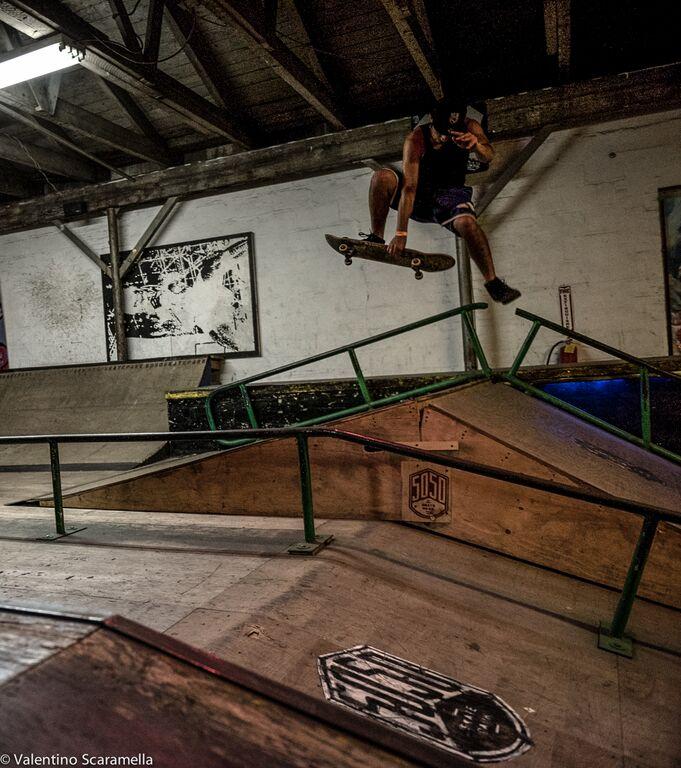Skater at 5050 Skatepark 2015 photo Valentino Scaramella