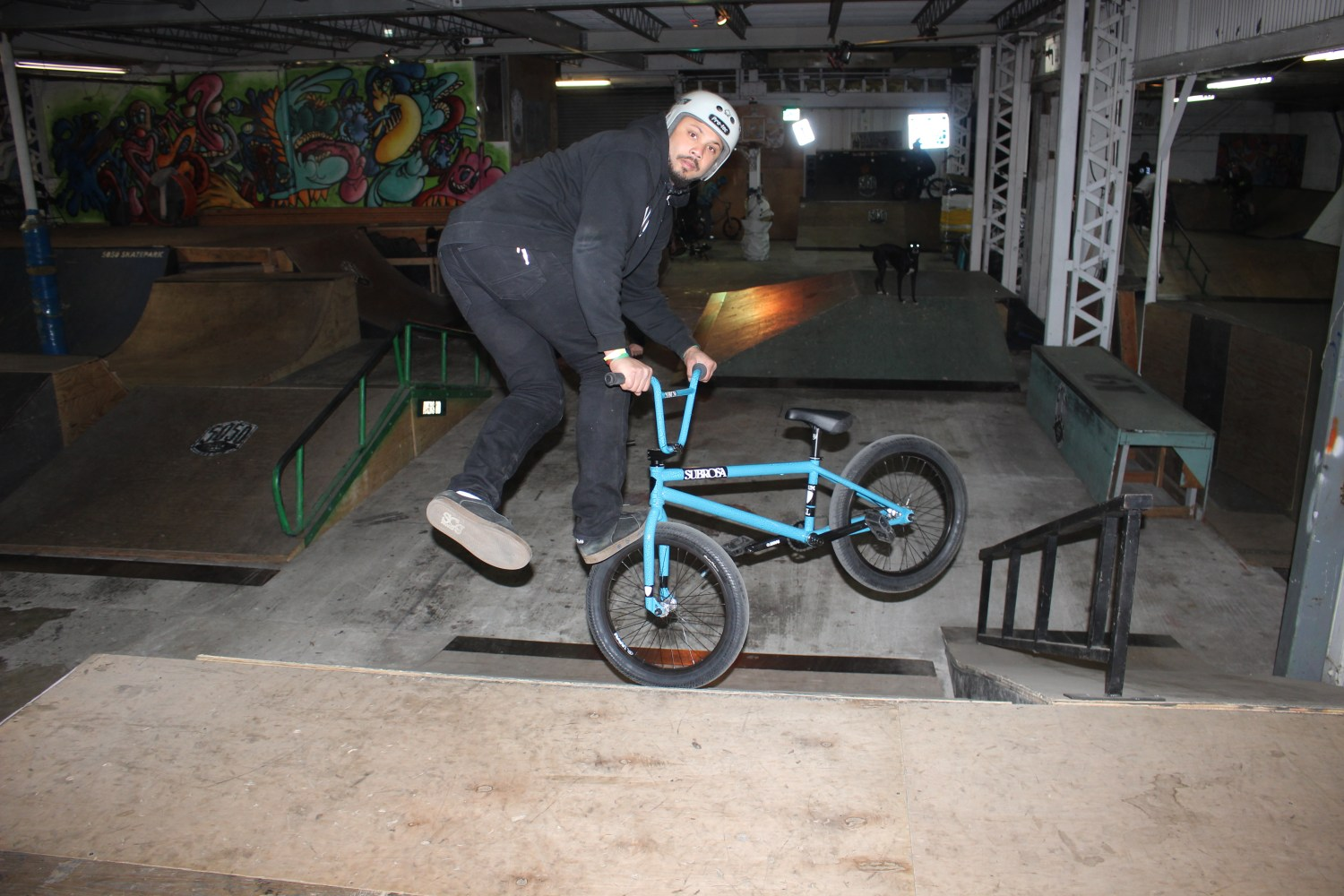 Walt From District Bike Shop in Wasington DC came to Staten Island to Footjam Whip at King of New York