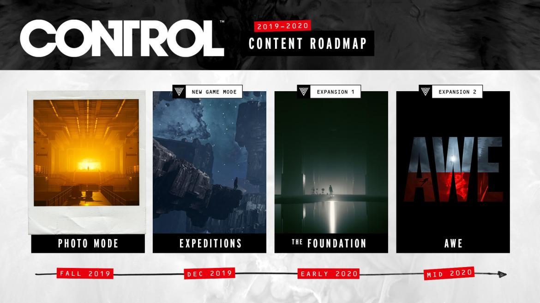 CONTROL post launch roadmap FINAL - Control: modalità foto ed espansioni in arrivo!