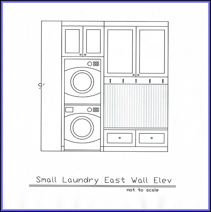 Laundry Room Plan Part - 38: Laundry Elevation