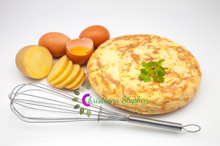 omelette of typical potato of the Spanish gastronomy