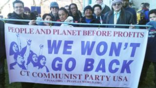 FAMILY_Womens March-Communist Party Banner