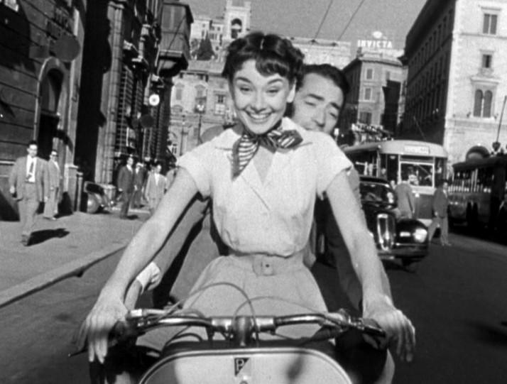 vespa audrey Hepburn et Gregory Peck