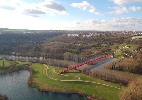 axe majeur étangs de cergy pont rouge