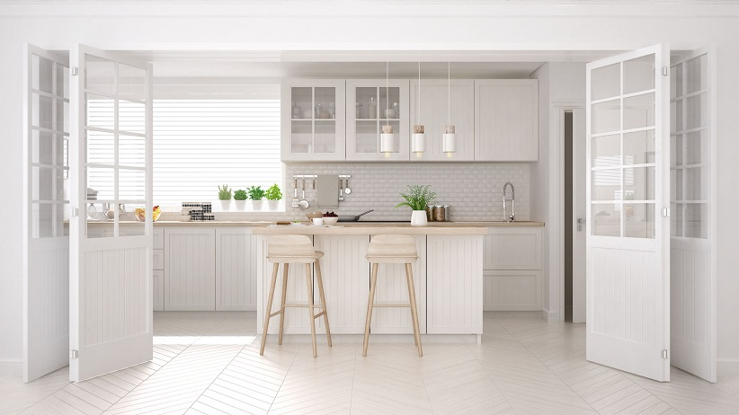 what flooring colors go best with white