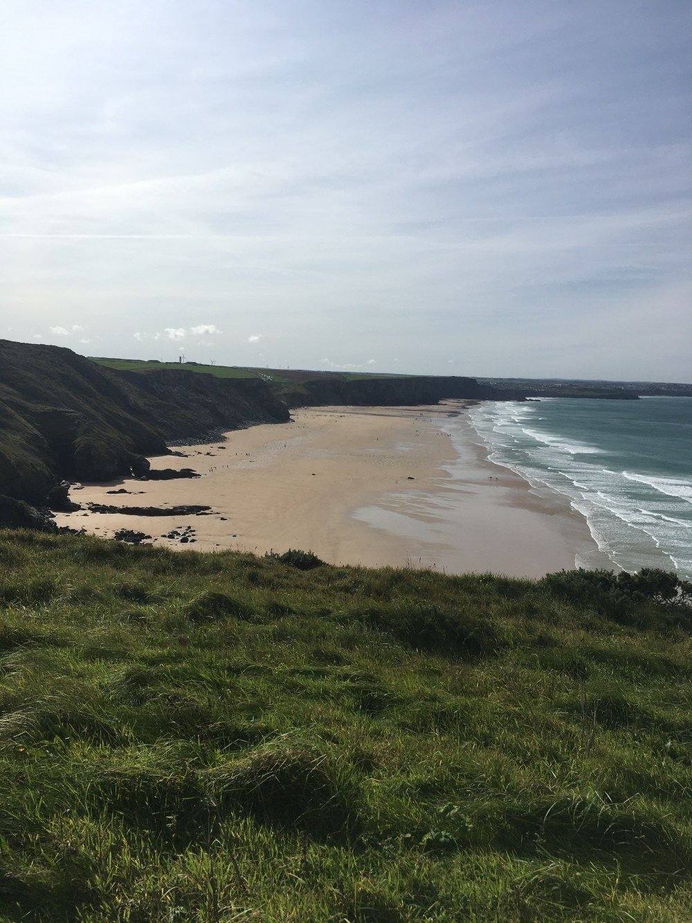 Looking back at Watergate Bay, Newquay (LEJoG Day 6)