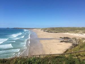 Perranporth Beach, Cornwall, on the South West Coast Path (LEJoG walk blog, day 4)