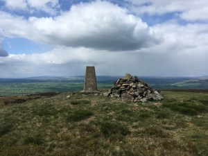 Looking north from Pinhaw Beacon, on the Pennine Way, North Yorkshire (Day 44)