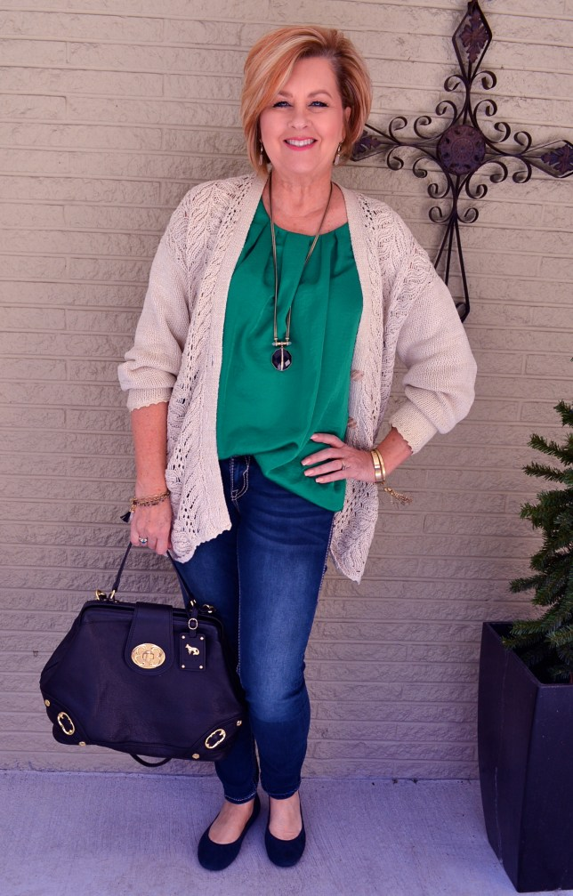 50 IS NOT OLD | GOING GREEN FOR SPRING | FASHION OVER 40