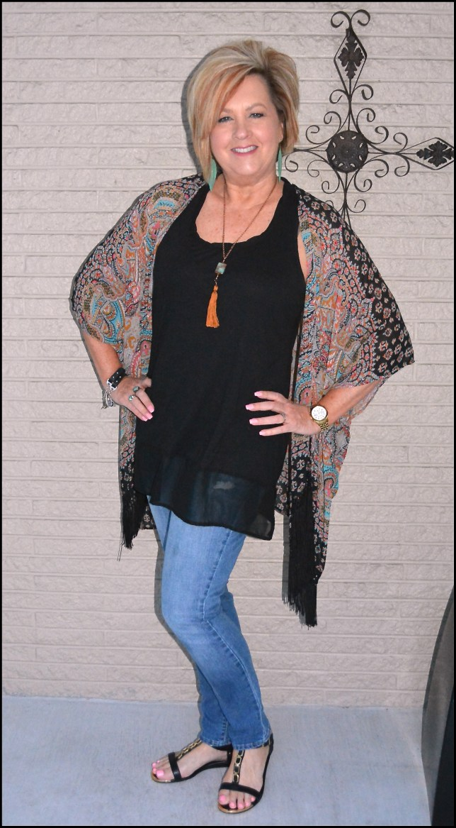 50 IS NOT OLD | KIMONO WITH FRINGE
