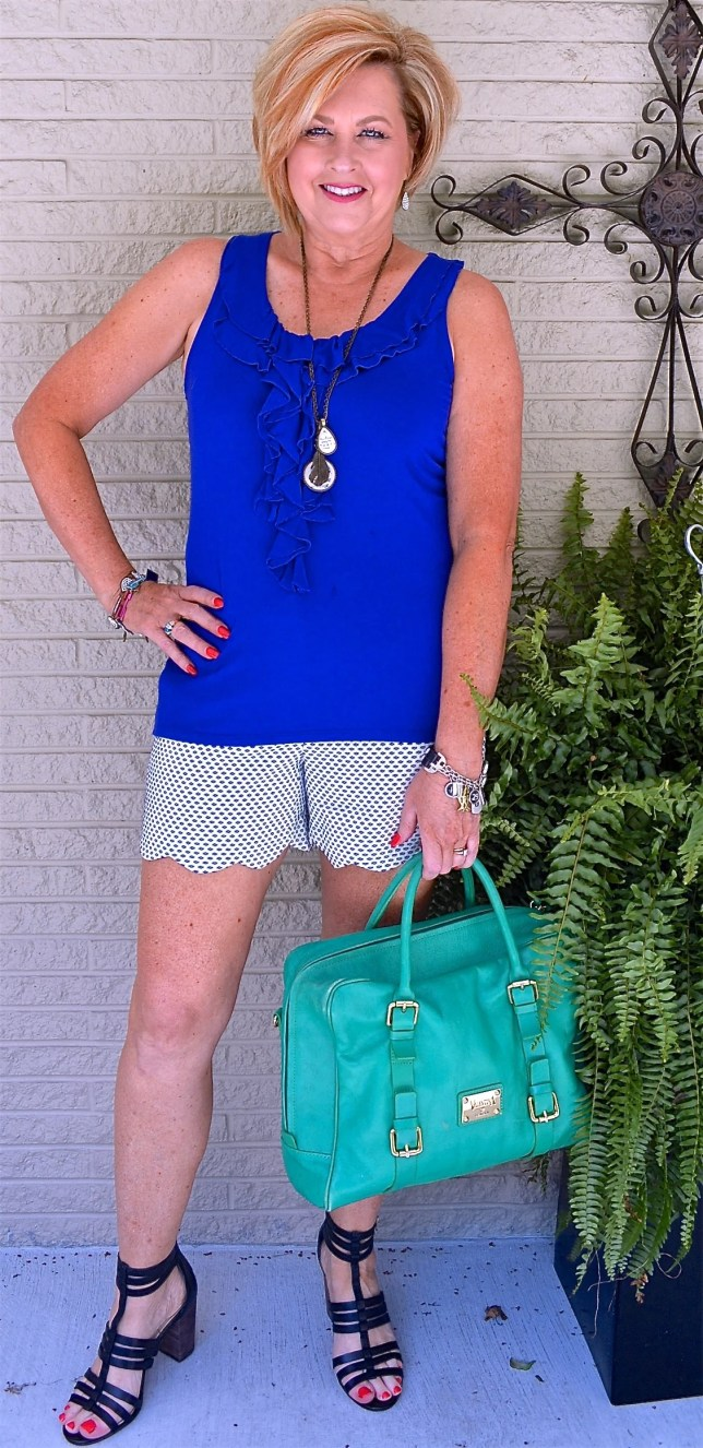 50 IS NOT OLD | SCALLOPED SHORTS