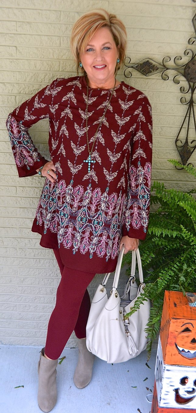 50 IS NOT OLD   TUNIC STYLE WITH LEGGINGS