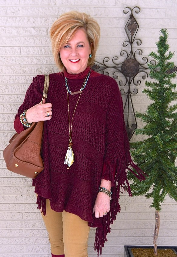 50 IS NOT OLD | FRINGE PONCHO AND BOOTS
