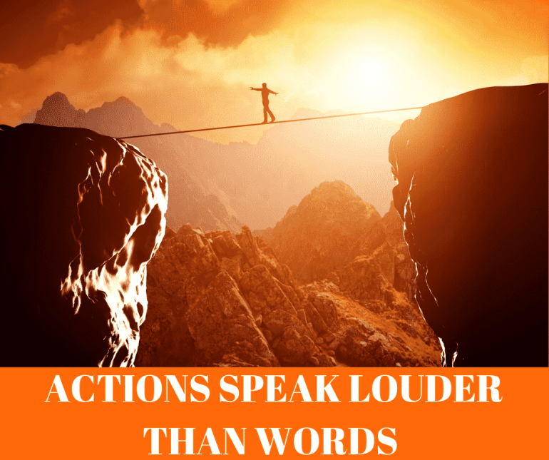 50 IS NOT OLD | ACTIONS SPEAK LOUDER THAN WORDS