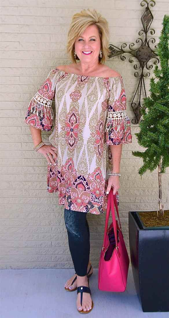 50 IS NOT OLD   STATEMENT EARRINGS AND LEGGINGS