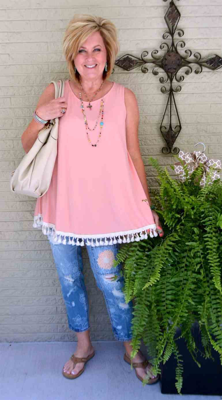 50 IS NOT OLD | SWING TOP AND TASSELS