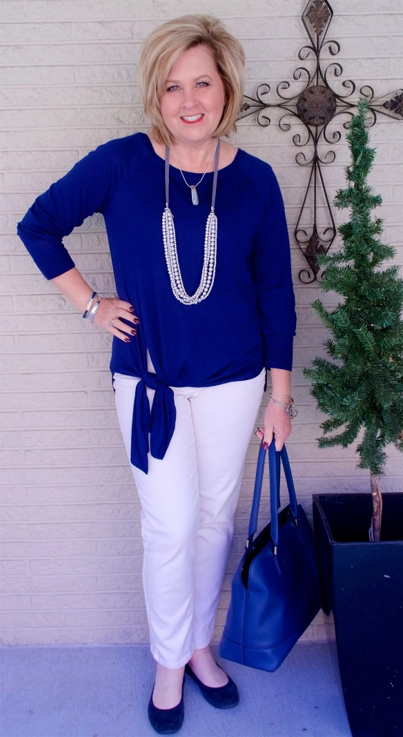 50 IS NOT OLD   A FLATTERING STYLE TOP