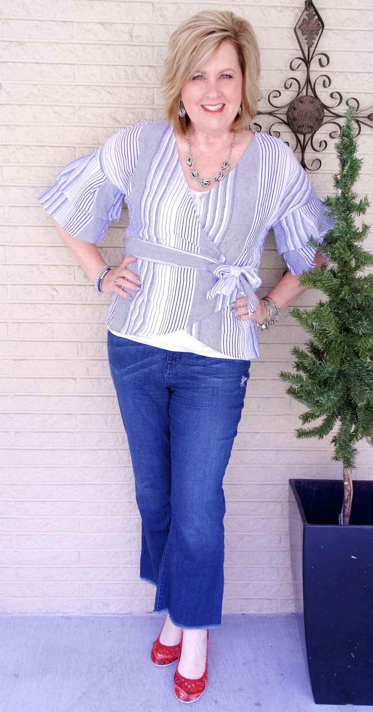 50 IS NOT OLD | FRINGE HEM AND KICK FLARE | FASHION OVER 40