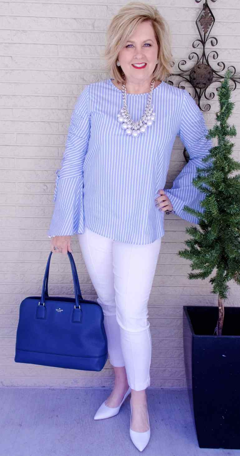 50 IS NOT OLD | STRIPES FOR SPRING | FASHION OVER 40