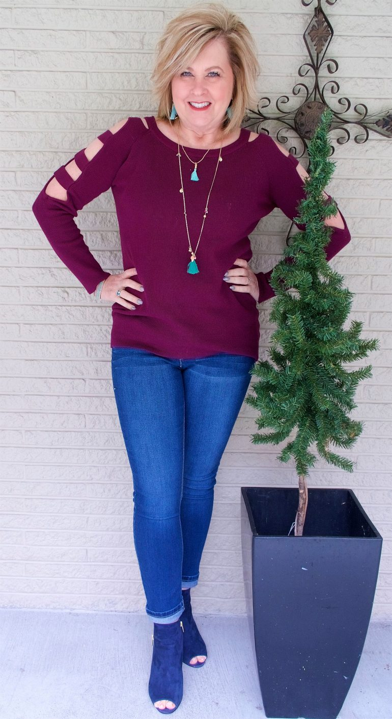 50 IS NOT OLD | PAIRING CLARET AND TURQUOISE TOGETHER | FASHION OVER 40