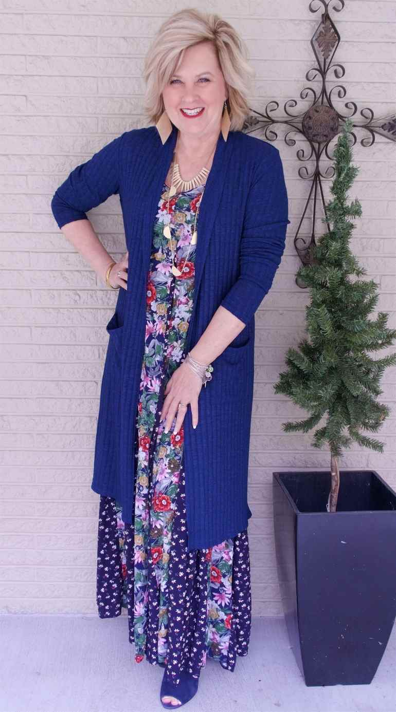 50 IS NOT OLD | LONG FLORAL MAXI DRESS FOR SPRING | FASHION OVER 40