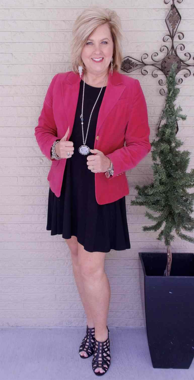 50 IS NOT OLD | BLACK AND PINK FOR A FUN COLOR COMBINATION | FASHION OVER 40