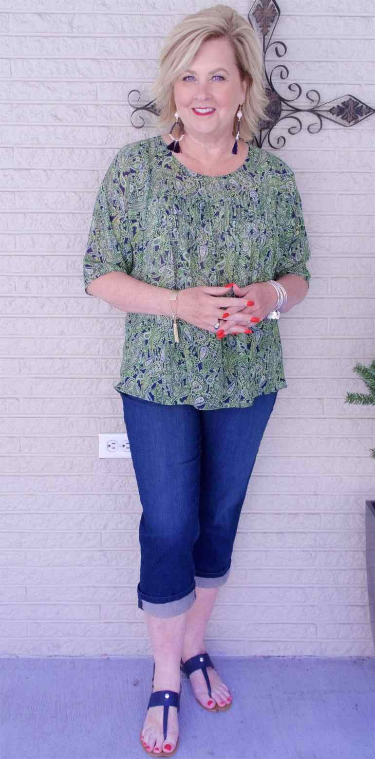 50 IS NOT OLD | HOW TO GET A PERFECT CROPPED HEM | FASHION OVER 40