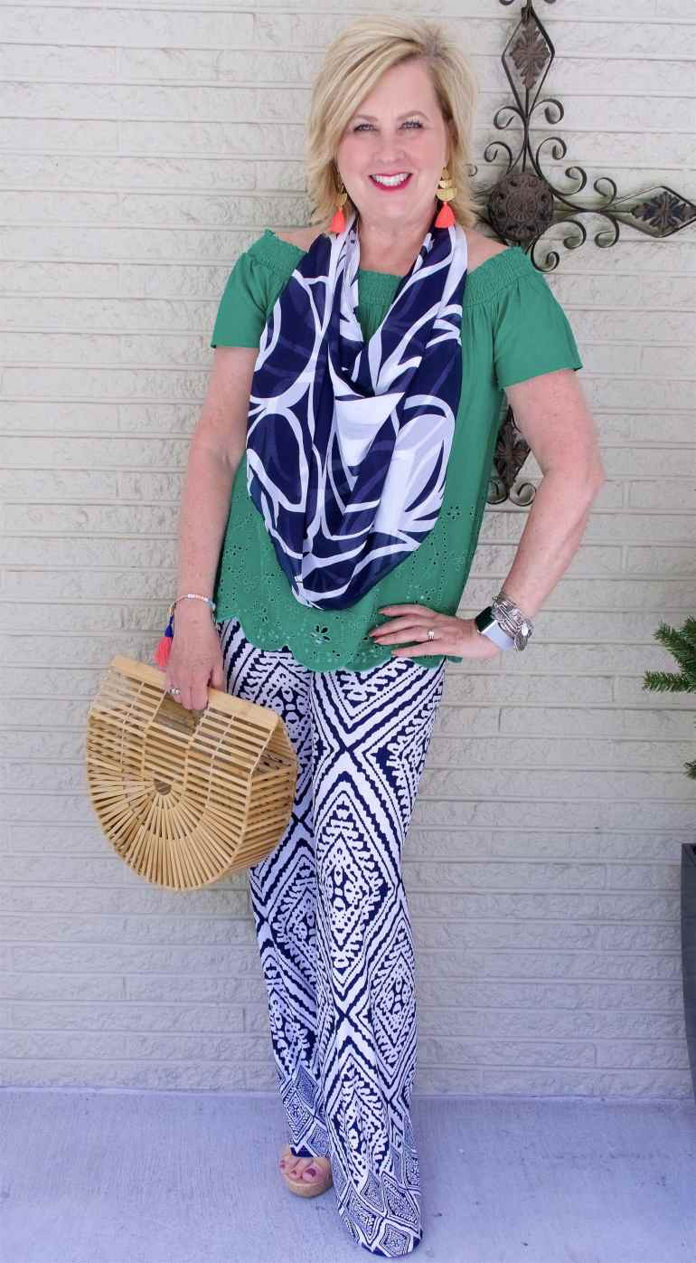 50 IS NOT OLD | WEARING PATTERNED PANTS | FASHION OVER 40