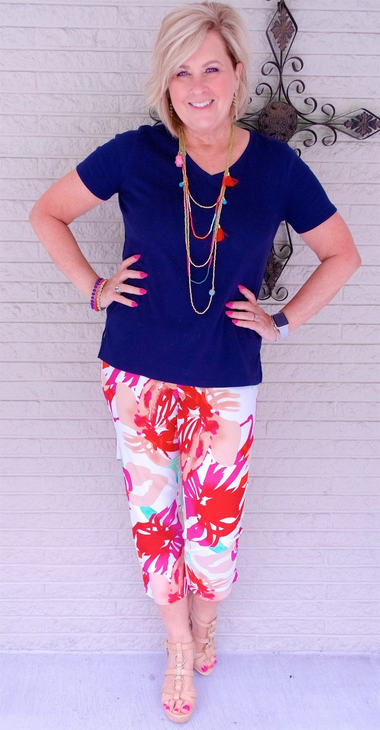 50 IS NOT OLD | HOW DO YOU WEAR A PRINTED PANT | FASHION OVER 40
