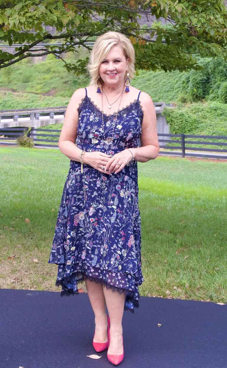 50 IS NOT OLD | FLORAL MIDI DRESS | FASHION OVER 40
