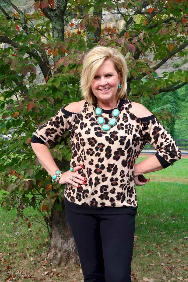 50 IS NOT OLD | LEOPARD AND TURQUOISE FOR FALL | FASHION OVER 40